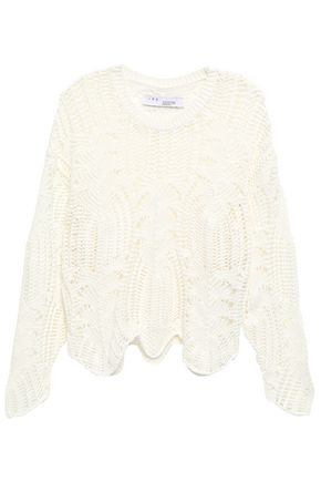 IRO Open-knit cotton-blend sweater