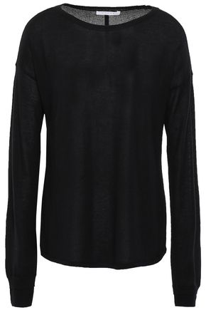 DUFFY Cashmere and silk-blend sweater