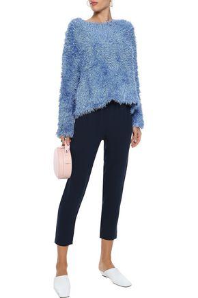 Mansur Gavriel Woman Frayed Silk Sweater Light Blue