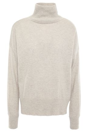 AUTUMN CASHMERE Mélange cashmere turtleneck sweater