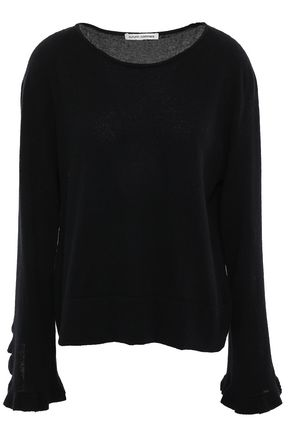 AUTUMN CASHMERE Ruffled cashmere sweater