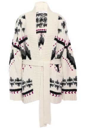 Trendy Belted Jacquard Knit Alpaca Blend Cardigan by Iro