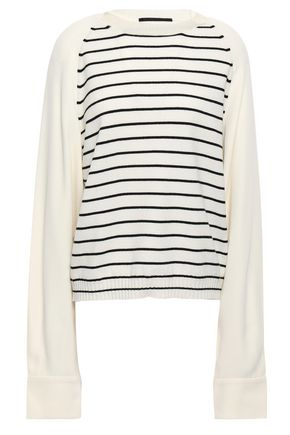 HAIDER ACKERMANN Striped wool and cashmere-blend sweater
