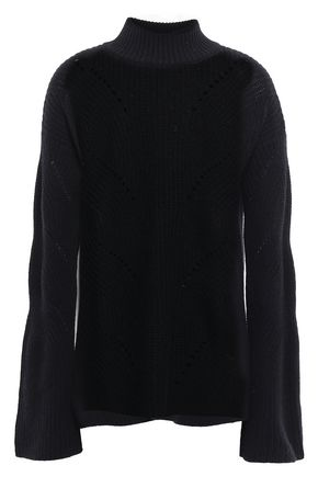 AUTUMN CASHMERE Pointelle-trimmed cashmere sweater