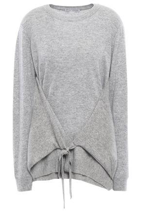 AUTUMN CASHMERE Tie-front mélange cashmere sweater