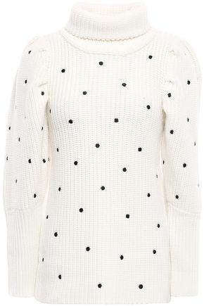 PAPER London Bill Swiss-dot wool turtleneck sweater