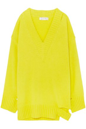 TRE by NATALIE RATABESI Cutout distressed cashmere sweater