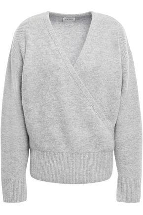 LE KASHA 1918 London wrap-effect mélange cashmere sweater