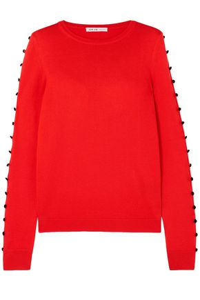 ADEAM Button-embellished silk sweater
