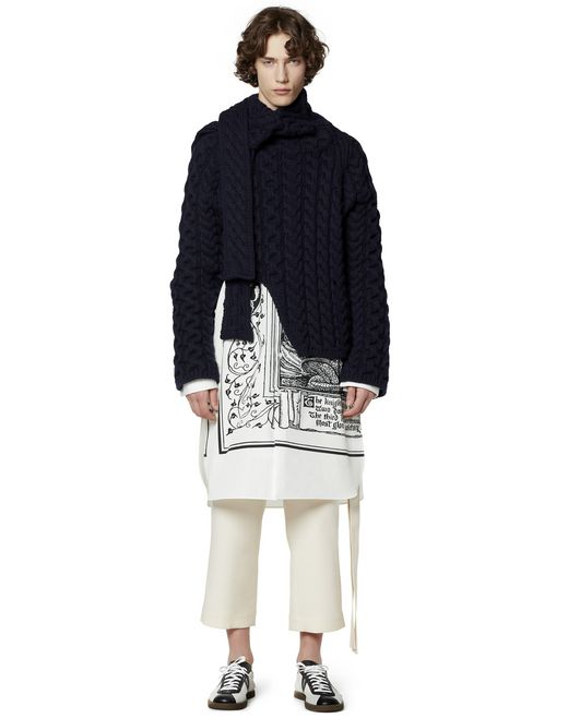 ASYMMETRICAL WOOL SWEATER - Lanvin