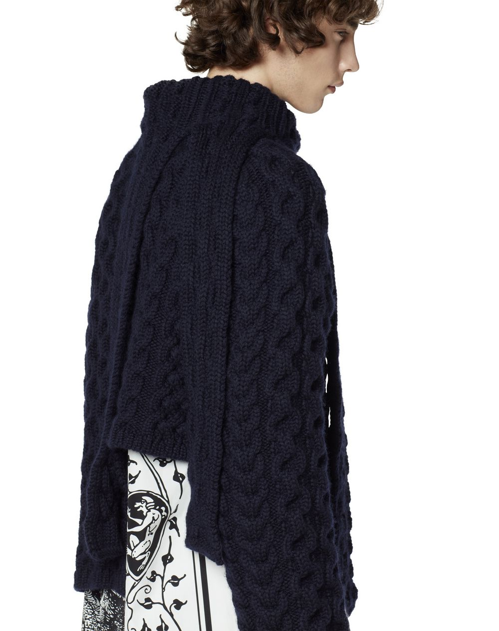 ASYMMETRICAL WOOL JUMPER - Lanvin