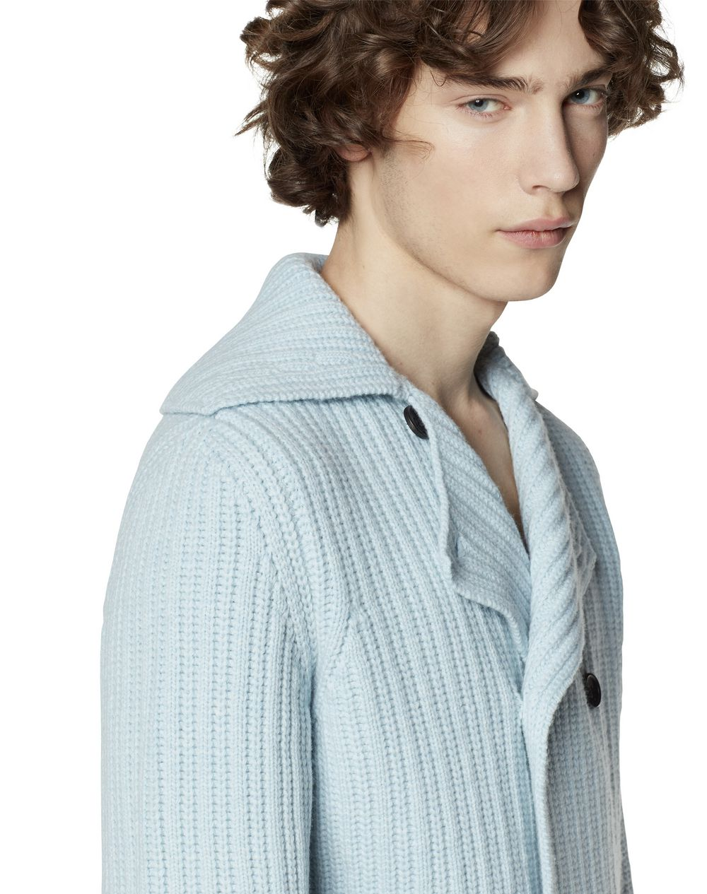 RIBBED MERINO WOOL CARDIGAN - Lanvin