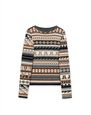 LANVIN Knitwear & Jumpers Man WOOL JUMPER WITH JACQUARD MOTIFS f