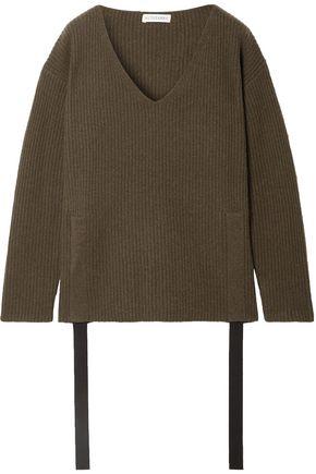 ALTUZARRA Baez grosgrain-trimmed ribbed cashmere sweater