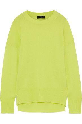 THEORY Karenia neon cashmere sweater