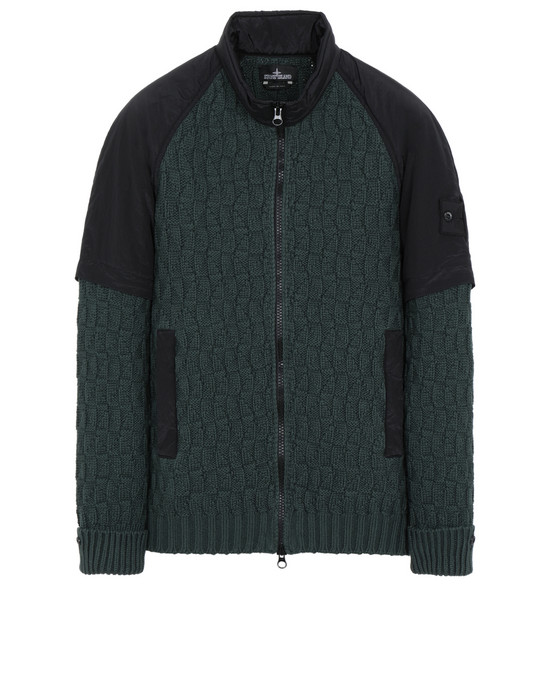 STONE ISLAND SHADOW PROJECT 501A1 CONVERTIBLE JACKET WITH HAND GAITER Sweater Man Dark Teal Green