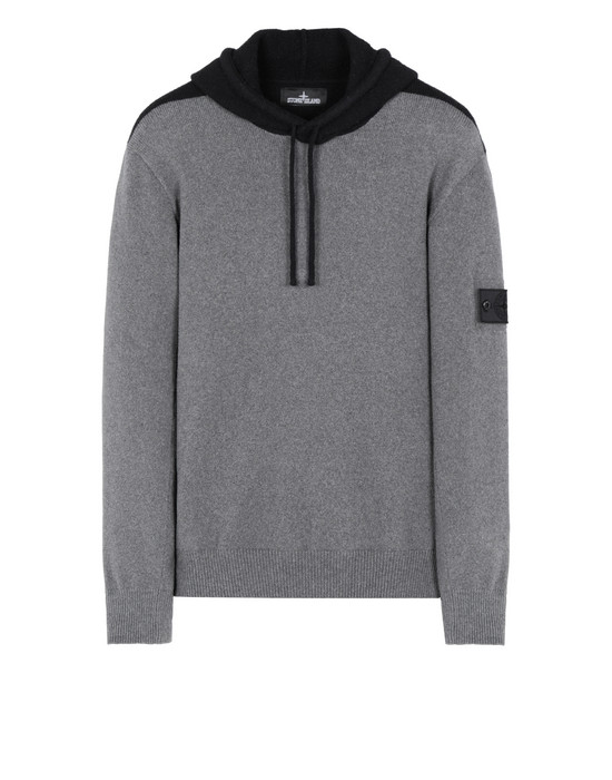 STONE ISLAND SHADOW PROJECT 504D2 CONTRAST HOODIE Sweater Man Steel Gray