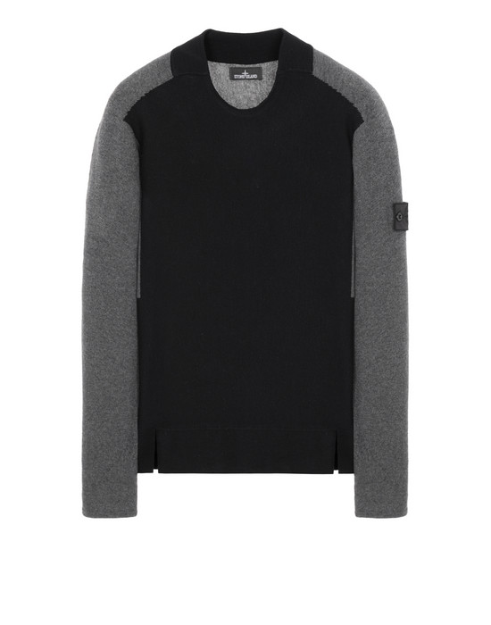 STONE ISLAND SHADOW PROJECT 505D3 CONTRAST CREWNECK 针织衫 男士 黑色