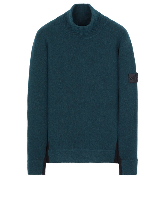 STONE ISLAND SHADOW PROJECT 503D2 CONTRAST MOCK NECK 针织衫 男士 黑色