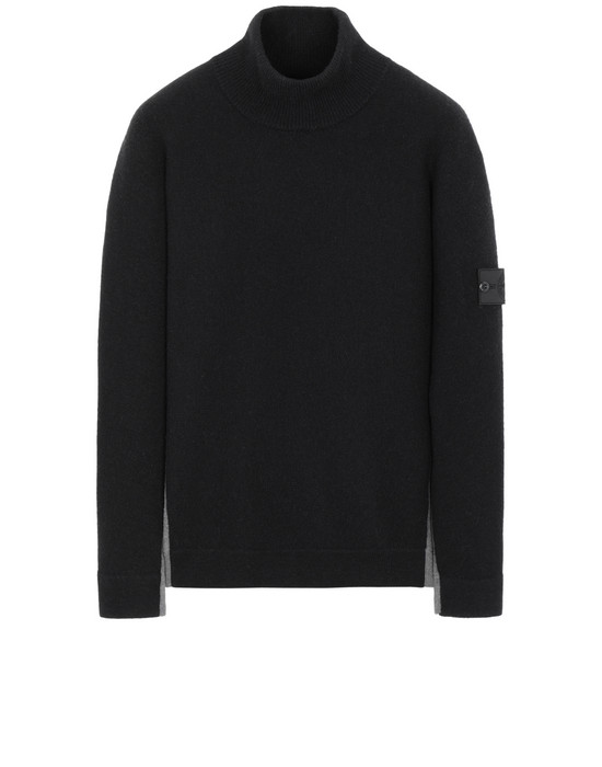 STONE ISLAND SHADOW PROJECT 503D2 CONTRAST MOCK NECK Sweater Man Steel Gray