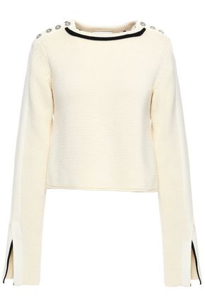 3.1 PHILLIP LIM Button-embellished cotton-blend sweater