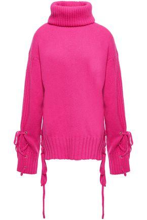 McQ Alexander McQueen Lace-up wool turtleneck sweater
