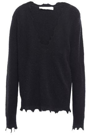 IRO Distressed merino wool-blend sweater