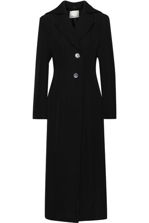 3.1 PHILLIP LIM Ribbed knit-paneled wool-twill coat