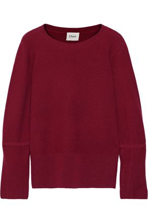 CHARLI Niona bow-detailed wool and cashmere-blend sweater