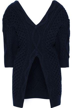 3.1 PHILLIP LIM Aran split-front cable-knit wool sweater