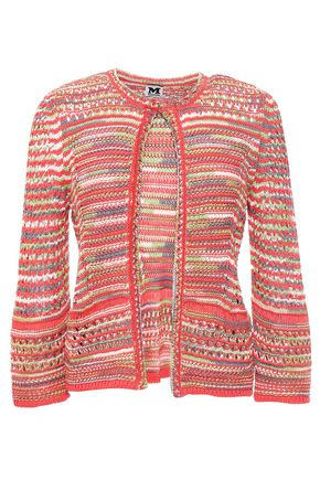 M MISSONI Crochet-knit cotton and linen-blend cardigan