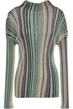 M MISSONI Metallic ribbed-knit sweater