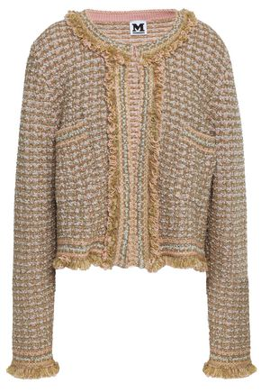 M MISSONI Fringed wool-tweed jacket