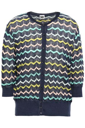 M MISSONI Printed crochet-knit cardigan