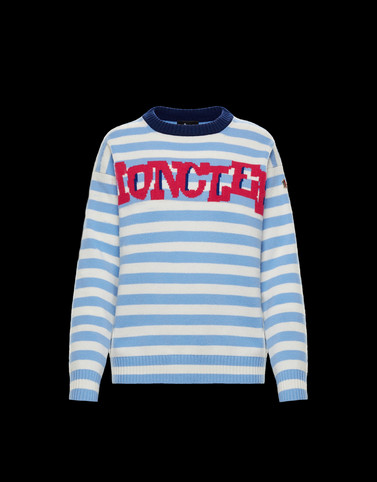 CREWNECK Sky blue Grenoble Knitwear Woman