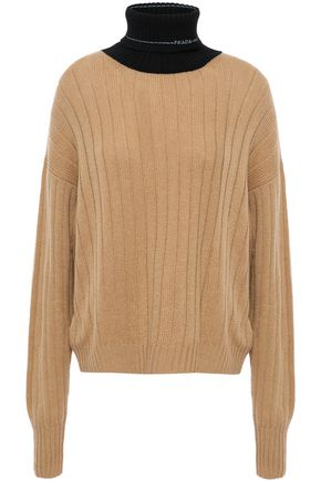 PRADA Ribbed two-tone cashmere sweater