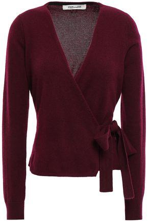 DIANE VON FURSTENBERG Brushed-cashmere wrap sweater