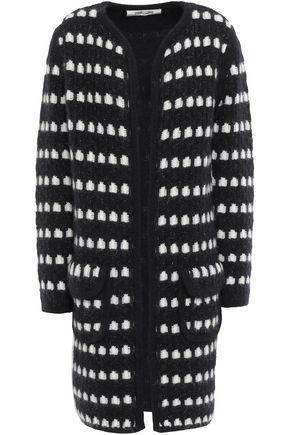 DIANE VON FURSTENBERG Metallic coated jacquard-knit cardigan