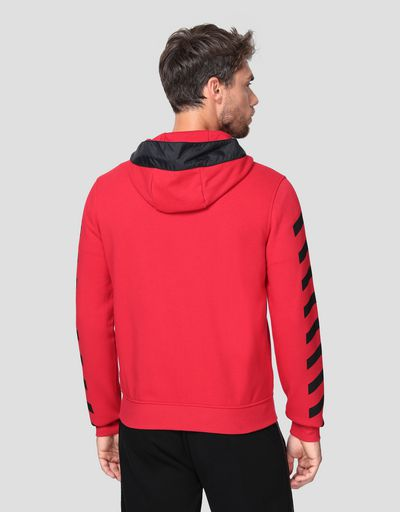 Men's double knit hooded sweatshirt