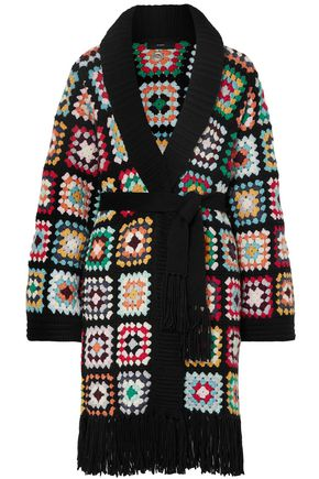 ALANUI Fringed crocheted cashmere cardigan