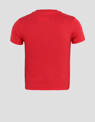 Boys' cotton T-shirt with large Ferrari Shield