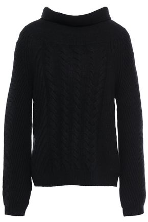 N.PEAL Cable-knit cashmere sweater
