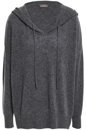 N.PEAL Mélange cashmere hooded sweater