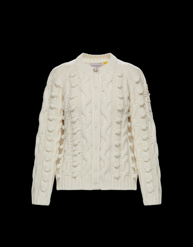 CARDIGAN Ivory Knitwear Woman