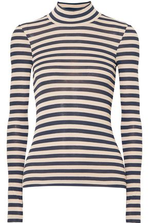 NANUSHKA Alana striped modal turtleneck sweater