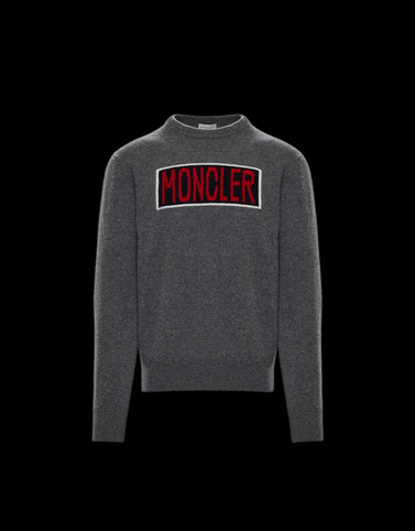 CREWNECK Dark grey Knitwear & Sweatshirts