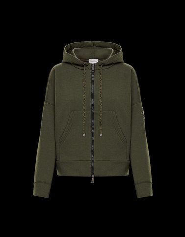 CARDIGAN Military green Category HOODED SWEATSHIRTS Woman