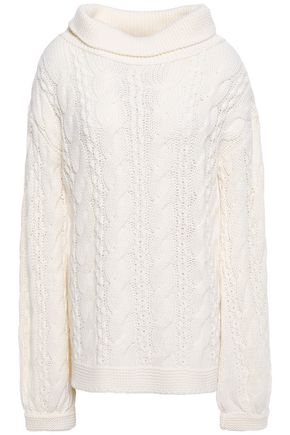 LOVE MOSCHINO Cable-knit wool-blend sweater