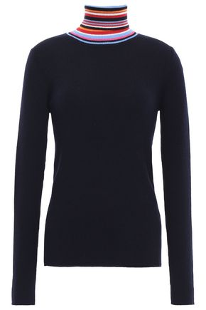 TORY BURCH Ribbed wool turtleneck sweater