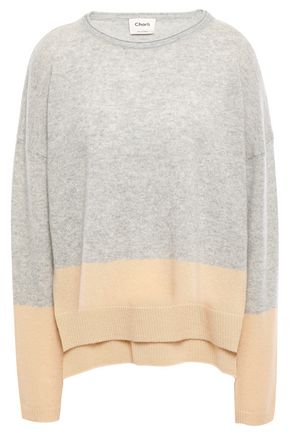 CHARLI Two-tone cashmere sweater
